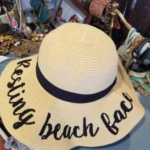 Resting Beach Face Beach sun Hat